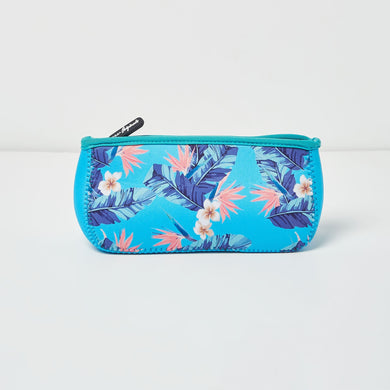 Goddess Makeup Bag - FLORAL/BLUE