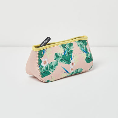 Goddess Beauty Makeup Bag - FLORAL/NUDE
