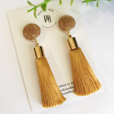 Sparkle Tassel Earrings - Poly & Bee