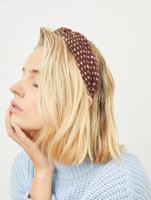 Flaviana Crinkled Polka Dot Headband by Angels Whisper