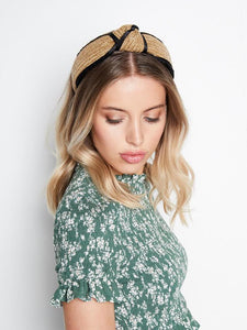 Emma Straw Turban Headband by Angels Whisper