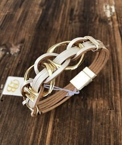 Linked White Bracelet - PB Accessories