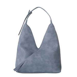 Tatiana Silver Blue Shoulder Bag - Black Caviar Design