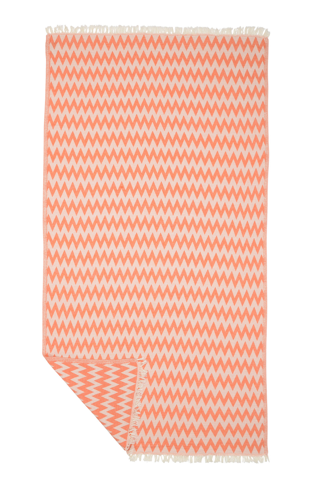 Aztec Zig Zag Authentic Turkish Towel - Orange