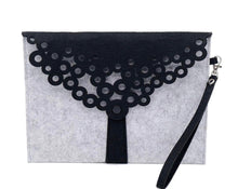 Lace Felt Clutch Bag - Willow Bay Australia