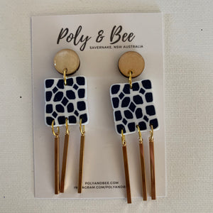 Square Statement Earrings - Poly & Bee