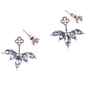Blush Crystal Ear Jackets Earrings by Blush & Co