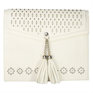 White Tassel Satchel