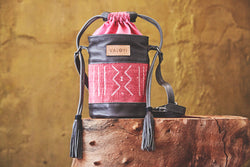 The Kedi Bag - Pink Bogolan