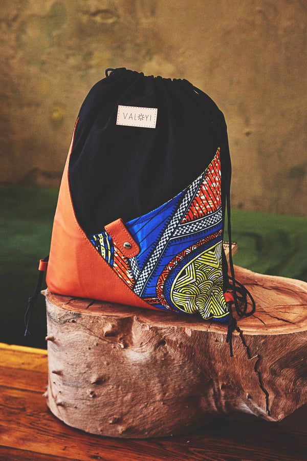 The Moja Drawstring Backpack - Orange