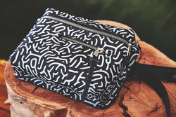 The Khaya Leather Waistbag - The Encounter Print