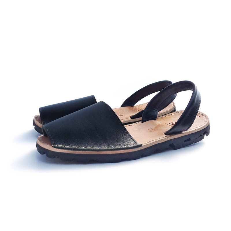 The Pablo Leather Sandal - Black