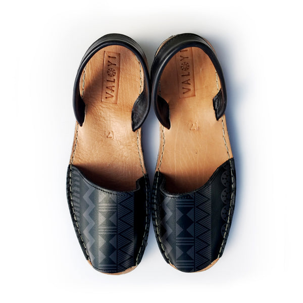 The Pablo Leather Sandal - Black on Black