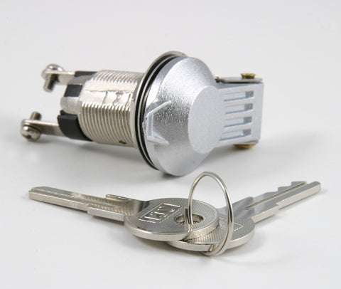 Chrome Key Switch With Cover On/Off