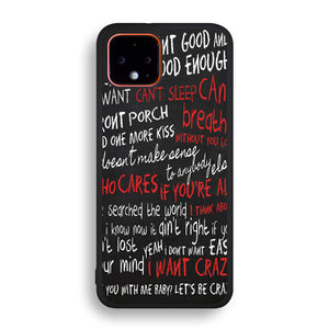 Hunter Hayes Quotes Collage Google Pixel 4 XL Case