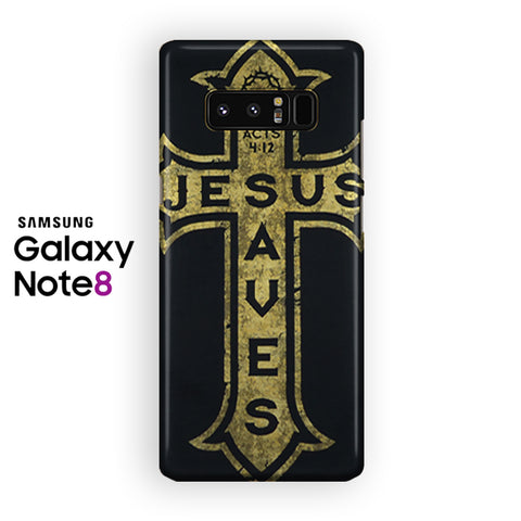 Jesus Saves Cross Samsung Galaxy Note 8 Case