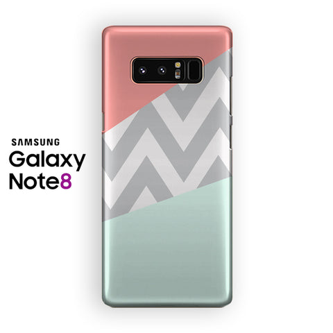 Mint Chevron Coral Samsung Galaxy Note 8 Case