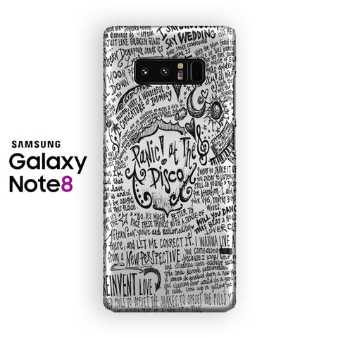 Panic At The Disco All Song Lyrics Samsung Galaxy Note 8 Case