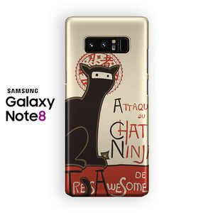 A French Ninja Cat Samsung Galaxy Note 8 Case