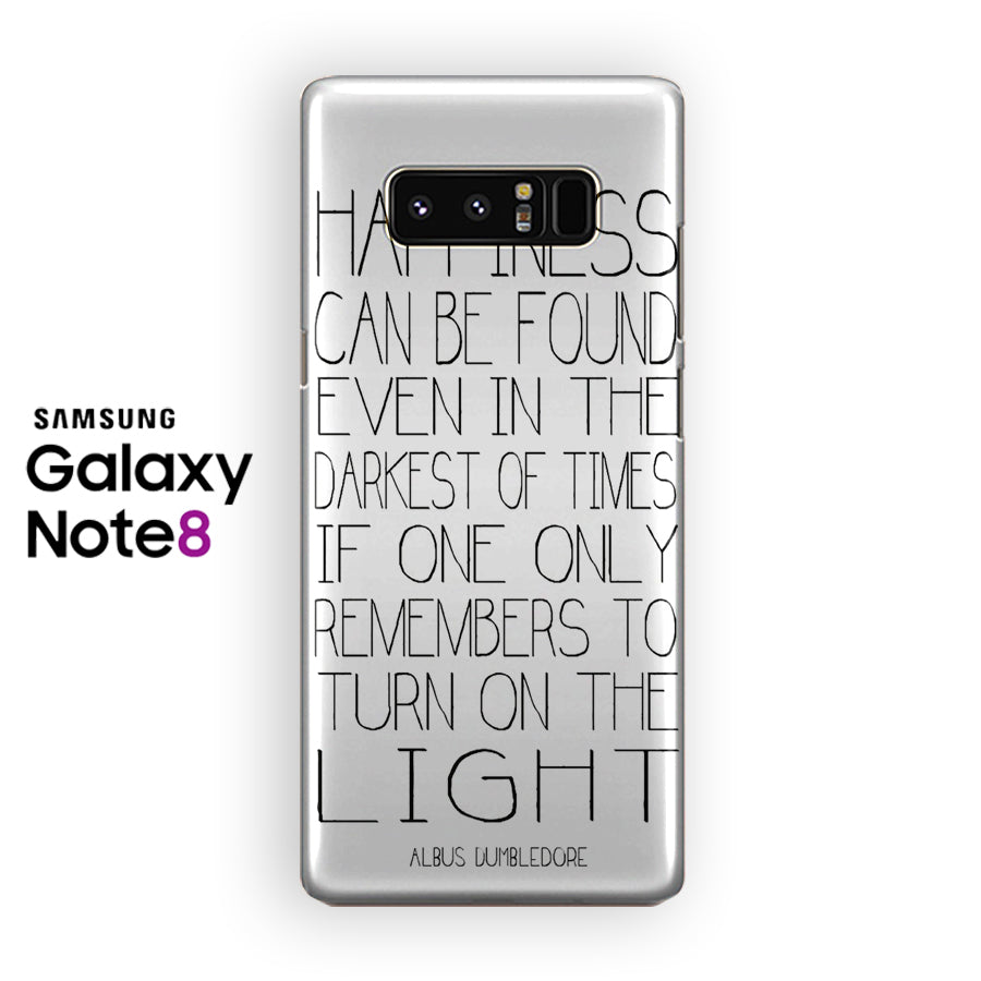 Albus Dumbledore Quotes In White Samsung Galaxy Note 8 Case