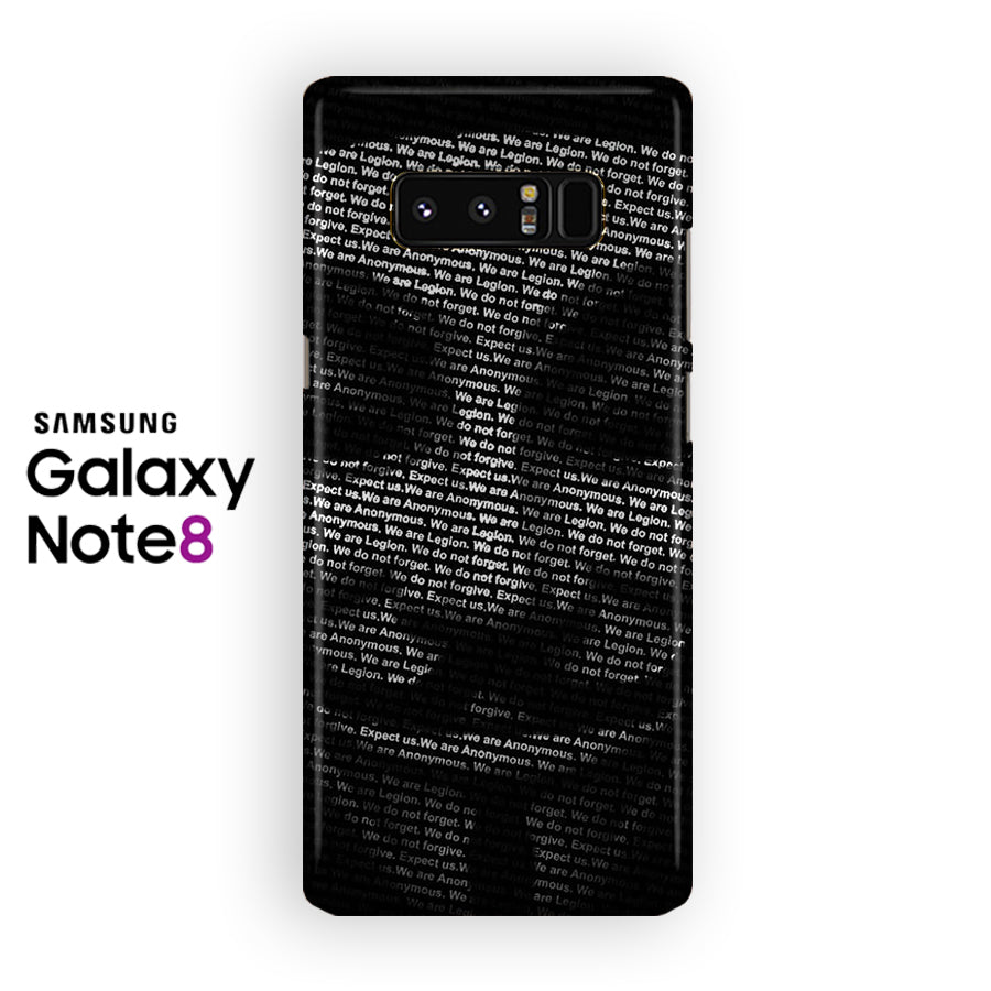 Anonymous Hackers Mask Quotes Samsung Galaxy Note 8 Case