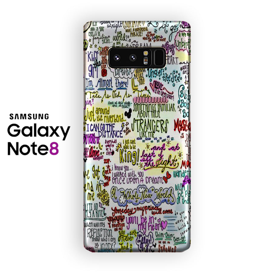 Disney Song Lyric Music Samsung Galaxy Note 8 Case