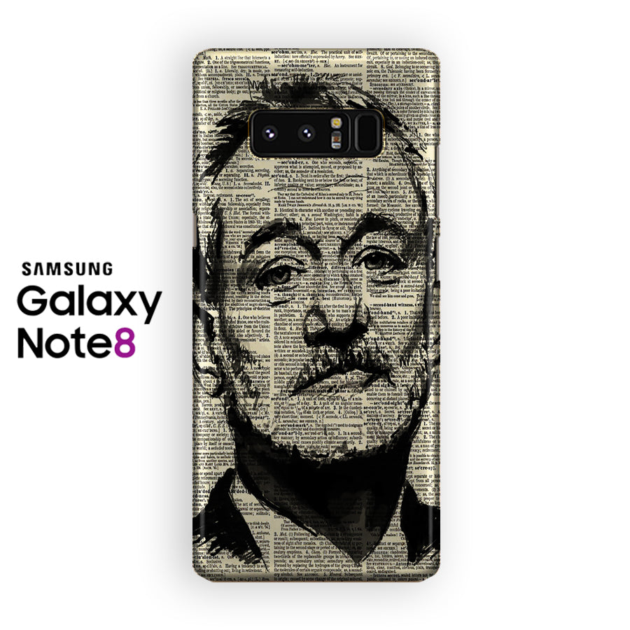 Bill Murray Portrait Dictionary Page  Samsung Galaxy Note 8 Case