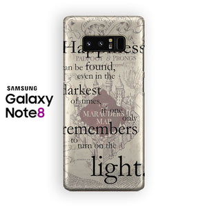 Marauders Map Quotes Samsung Galaxy Note 8 Case