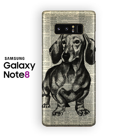 Dachshund Dog Samsung Galaxy Note 8 Case