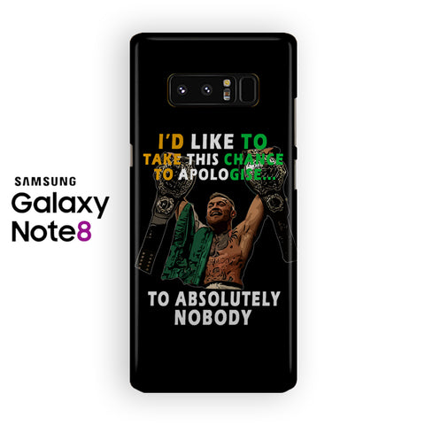 Conor Mcgregor Quotes Samsung Galaxy Note 8 Case
