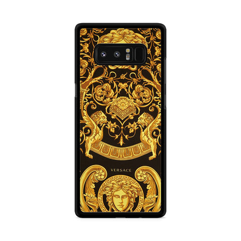 Versace Yellow Black And Gold Silk Scarf Samsung Galaxy Note 8 Case