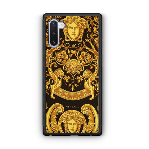 Versace Yellow Black And Gold Silk Scarf Samsung Galaxy Note 10 Case
