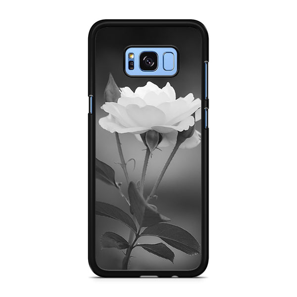 Tulip Flowers In Black and White Samsung Galaxy S8 Plus Case