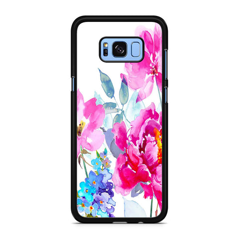 Watercolor Flower Blooms Samsung Galaxy S8 Plus Case