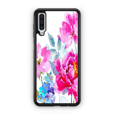Watercolor Flower Blooms Samsung Galaxy A50 Case