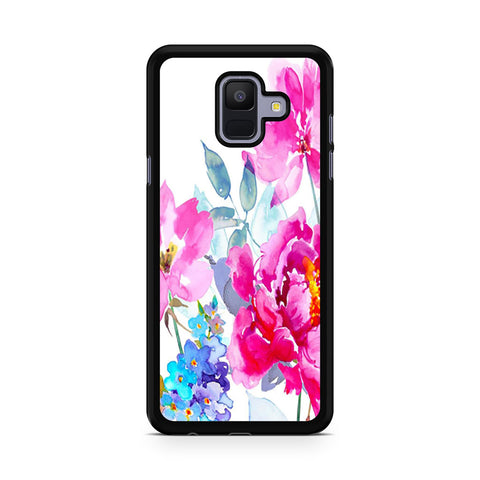 Watercolor Flower Blooms Samsung Galaxy A6 2018 Case