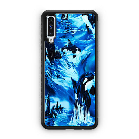 Whales Swimming Pattern Samsung Galaxy A50 Case