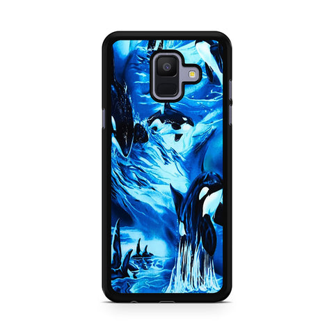 Whales Swimming Pattern Samsung Galaxy A6 2018 Case