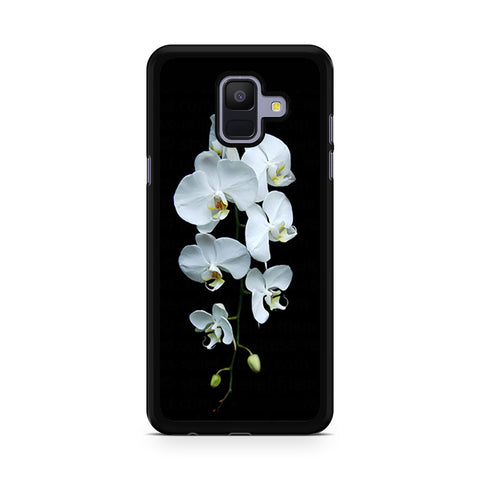 Witey Orchid In Black Samsung Galaxy A6 2018 Case