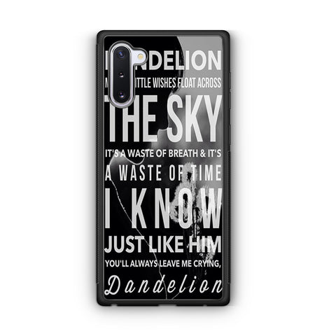 Kacey Musgraves Dandelion Quotes Samsung Galaxy Note 10 Case