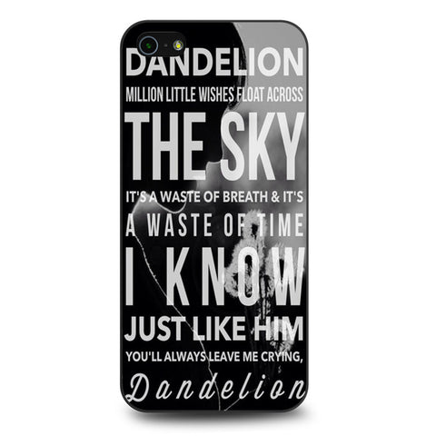 Kacey Musgraves Dandelion Quotes iPhone 5 | 5S | SE Case