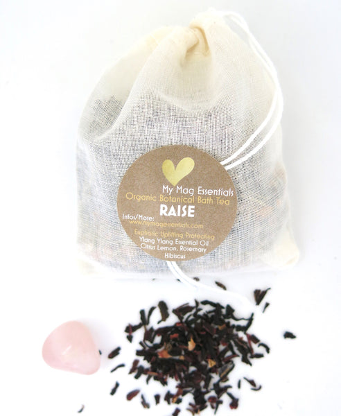 Reusable Organic Herbal Bath Tea Infusion- RAISE (pack of 5)