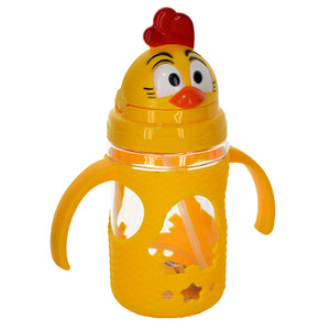 Chicken Baby Plastic 300ml Bottle With Nipple Straw
