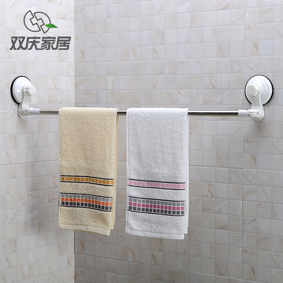 Stainless Steel Vacuum Suction Sticky Large Size Towel Hanger Rod
