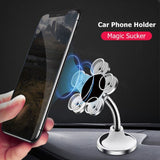 360' Rotating Small Magic Suction Sticky Mobile Phone Holder Stand