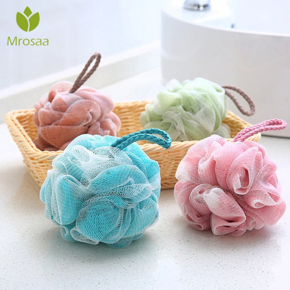 Shower Body Cleaning Soft Mesh Pouf (Random Color)