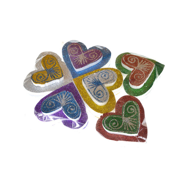 Pack Of 12 Thermocol Decoration Hearts