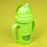 Sad Face Baby Plastic 300ml Bottle With Nipple Straw