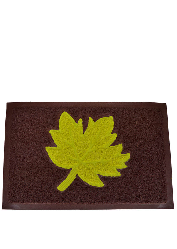 Flower Water Proof Rubber Door / Foot Mat 22 X 14 inches