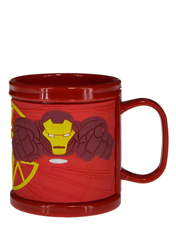 Iron Man Plastic Cup With Silicon Printing